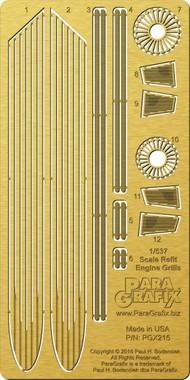 Paragrafix Modeling Systems  1/537 537 Star Trek: USS Enterprise NCC1701 Refit Engine Grills Photo-Etch Set for AMT PGX215