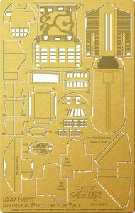 Paragrafix Modeling Systems  1/537 Star Trek: USS Enterprise NCC1701 Refit Interior Photo-Etch Set for AMT PGX216