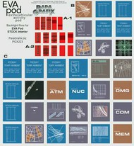 Paragrafix Modeling Systems  1/8 2001 Space Odyssey: EVA Pod Display Screens Decal Set PGX223