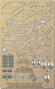 Paragrafix Modeling Systems  1/1000 Star Trek: USS Enterprise Space Seed Edition Window Drilling Templates Photo-Etch Set PGX231