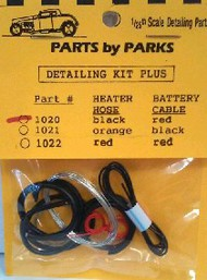 Parts Accessoriess By Parks  1/24-1/25 Detail Set 1: Radiator Hose, Black Heater Hose, Red Battery Cable & Tinned Copper Wire for Brake/Fuel Lines & Carburetor Linkage PBP1020