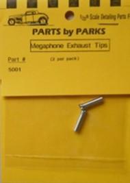 Parts By Parks  1/25 Exhaust Tip (Spun Aluminum) PBP5001