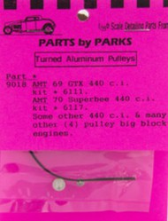 Parts By Parks  1/25 Pulley Set (Chrysler & Ford Big Block Engines) (Spun Aluminum) (4) PBP9018