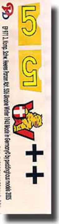 Peddinghaus-Decals  1/16 3. Komp. Schw. Heeres Panzer Abt. 506 Ukraine 1943 PDH0971