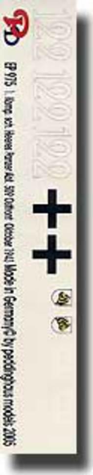 Peddinghaus-Decals  1/16 1. Komp. Schw. Heeres Panzer Abt. 509 Ostfront Oktober 1943 PDH0975