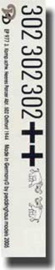 Peddinghaus-Decals  1/16 3. Komp. Schw. Heeres Panzer Abt. 502 Ostfront 1944 PDH0977