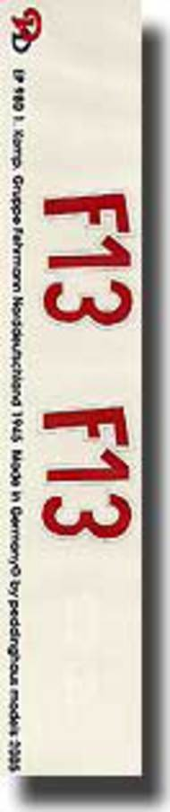 Peddinghaus-Decals  1/16 1. Komp Gruppe Fehrmann Fw. Bellof Norddeutschland 1945 PDH0980