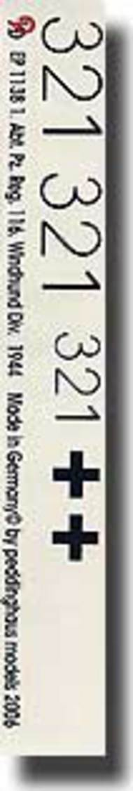 Peddinghaus-Decals  1/16 Panther 1. Abt. Pz. Reg. 116. Windhund Div. 1944 PDH1138