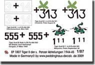 Peddinghaus-Decals  1/87 4 Tiger II der s.Pz. Abteilungen 1944-45 PDH1807