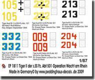 Peddinghaus-Decals  1/87 6 Tiger II der s.SS.Pz. Abteilung 501 1944 PDH1811