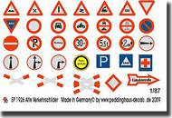 Peddinghaus-Decals  1/87 Old Germantraffic signs PDH1926