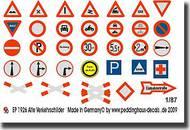 Peddinghaus-Decals  1/87 Old Germantraffic signs PDH1926