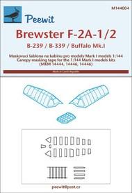 Peewit  1/144 Brewster F-2A-1/2, B-229, B-339, Buffalo Mk.I PEE144004