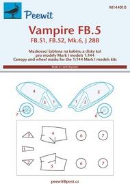 Peewit  1/144 de Havilland Vampire FB.5/FB.52/J 28B (MK1) PEE144010