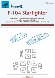 Lockheed F-104 Starfighter Masks #PEE144026