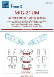 Mikoyan MiG-21UM (Closed canopy) (designed to be used with Kovozavody Prostejov and R.V. Aircraft kits) #PEE72152