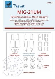 Mikoyan MiG-21UM (Open canopy) (designed to be used with Kovozavody Prostejov and R.V. Aircraft kits) #PEE72153