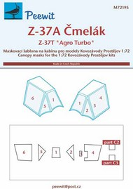 Let Z-37A Cmelak / Let Z-37TM Agro Turbo masks #PEE72195