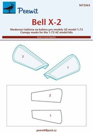 Bell X-2 (designed to be used with AZ model kits) paint masks #PEE72263
