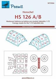 Henschel Hs.126A/Hs.126B paint masks #PEE72266