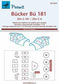 Bucker Bu.181 Bestmann / Zlin Z-181 / Zlin C-6 paint masks #PEE72269
