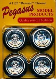 Pegasus Hobbies  1/24-1/25 Reverse Chrome Rims w/Tires (4) PGH1125