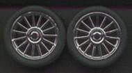 Pegasus Hobbies  1/24-1/25 Spider Chrome Rims w/Tires (4) PGH1206