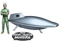 Pegasus Hobbies  1/18 My Favorite Martian: Uncle Martin & Spaceship (Assembled) PGH9912