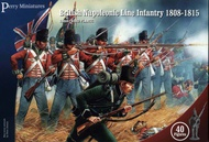 Perry Miniatures  28mm British Napoleonic Line Infantry 1808-1815 (40) PEY501