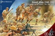 Perry Miniatures  28mm British & Commonwealth Infantry Desert Rats 1940-1943 (38) PEY601