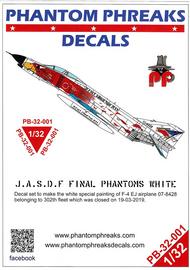 Phantom Phreaks Decals  1/32 F-4EJ Phantom II 302SQ BuNo 07-8428 Last Samurai White Phantom PPD32001