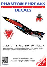 Phantom Phreaks Decals  1/32 F-4EJ Phantom II 302SQ BuNo 77-8399 Last Samurai Black Scheme PPD32002