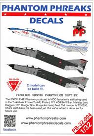 Phantom Phreaks Decals  1/32 F-4E Phantom II Fabulous 5000th Phantom In Service PPD32004