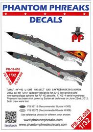 Phantom Phreaks Decals  1/32 RF-4E Phantom II Turkish Air Force Light Project & Dawn Squadron PPD32008