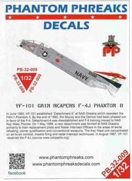 Phantom Phreaks Decals  1/32 F-4J Phantom II VF-101 Grim Reapers PPD32009