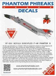 Phantom Phreaks Decals  1/32 F-4N Phantom II VF-301 Devils Disciples PPD32011