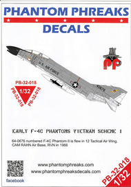 Phantom Phreaks Decals  1/32 Early F-4C Phantom II Vietnam Scheme I PPD32018
