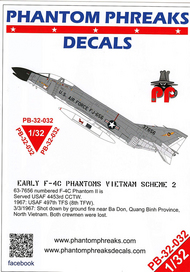 Phantom Phreaks Decals  1/32 Early F-4C Phantom II Vietnam Scheme 2 PPD32032