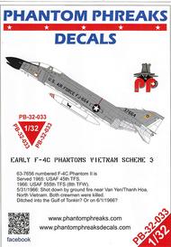 Phantom Phreaks Decals  1/32 Early F-4C Phantom II Vietnam Scheme 3 PPD32033