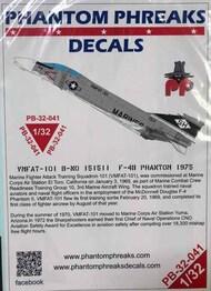 Phantom Phreaks Decals  1/32 F-4B Phantom II VMFAT-101 B-NO 151511 1975 PPD32041