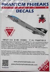 Phantom Phreaks Decals  1/32 F-4J Phantom II VMFAT-101 B-NO 153881 PPD32042
