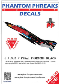 Phantom Phreaks Decals  1/48 F-4EJ Phantom II JASDF Final Black Phantom PPD48002