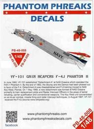 Phantom Phreaks Decals  1/48 F-4J Phantom II VF-101 Grim Reapers PPD48008