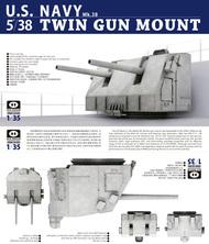USN 5-inch Twin Gun Mount Mk.38 - Pre-Order Item* #PIG35001