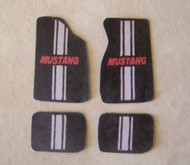 Plastic Dreams  1/25 Mustang w/Grey Stripe Car Mat Set PTD102