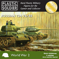 Plastic Soldier  15mm 15mm WWII Russian T34 76/85 Tank (5) PSO1502