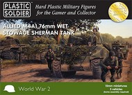Plastic Soldier  15mm 15mm WWII Allied M4A1 76mm Wet Stowage Sherman Tank (5) PSO1506