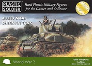 Plastic Soldier  15mm 15mm WWII Allied M4A1 Sherman Tank (5) PSO1507