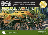 Plastic Soldier  15mm 15mm WWII German Sd.Kfz.251/D Halftrack (5) PSO1509
