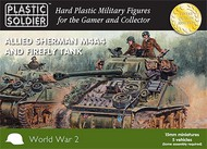 Plastic Soldier  15mm 15mm WWII Allied M4A4 Sherman/Firefly Tank (5) PSO1513